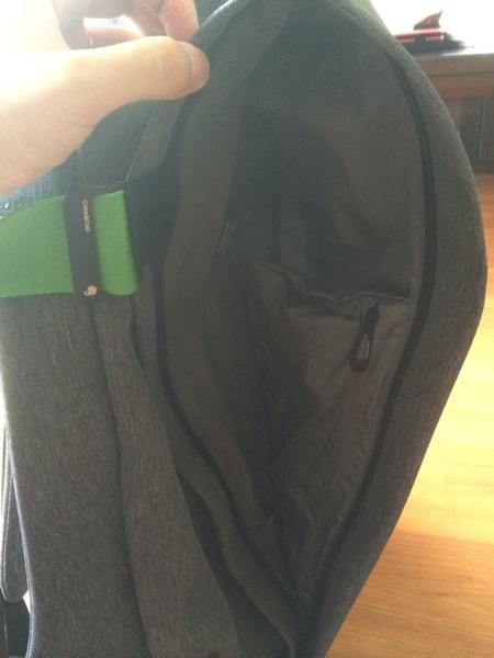 表側の大口ポケット