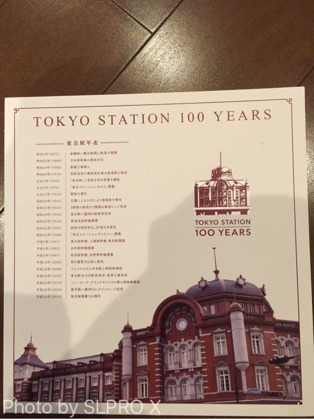 台紙の中には駅の歴史が